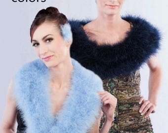 Promo Sale: Holywood Chic Marabou Feather Wrap - Collar - Shrug/ 22 colors