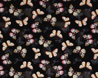 New ~ Garden Butterflies Ivory Color ~ Tivoli Garden by Anne Rowan for Wilmington Prints, Quilt Cotton, Easter, Spring Fabric