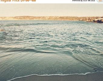 SALE beach photograph, La Jolla photography, waves, water calming blue green peaceful, beach decor, San Diego, coastal beachscape California