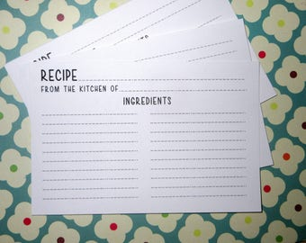 Recipe Cards- Set of 50- Super Cute-New Design