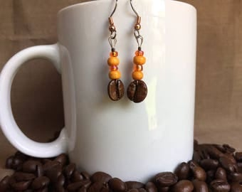 Coffee Bean Earrings - Autumn! - Authentic Fair Trade Coffee Bean Earrings...FREE U.S. SHIPPING