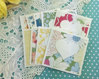 Mini Heart Cards Garden Party Collection Set of 9