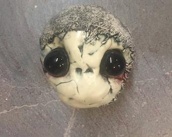 Ceramic Mummy Head, wall hanging