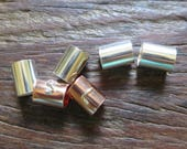 Reserved for Melina--Silver and Copper Tube Beads