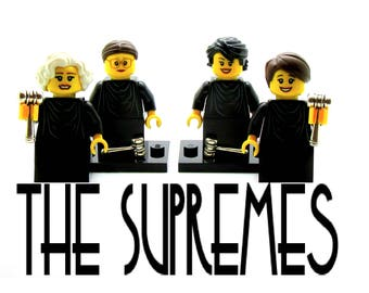 4 Female Supreme Court Justices Custom Figures + Stands - Fan Art Crafted From LEGO® Elements