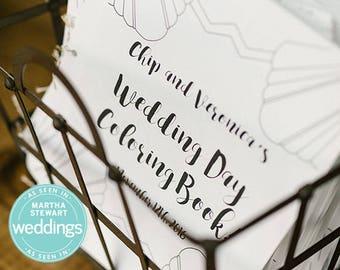 Custom Wedding Coloring Book, Adult Coloring Book, Personalized Wedding Activity, Wedding Favor, Printable PDF File, Martha Stewart Weddings
