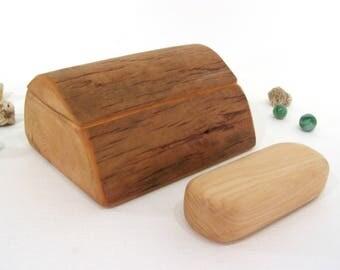 HOLDING for Spiralsouldesigns, Chokecherry Driftwood box & spirit shaker set, pagan altar, talisman, shamanic journey, meditation