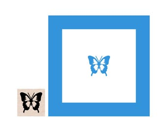 Mini Butterfly Rubber Stamp