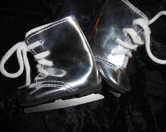 Silver Ice Skates for Doll - 3 inches by 1-1/2 inches