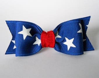 "Dog Bows- 7/8"" Independence Stars Soft Dog Bow"