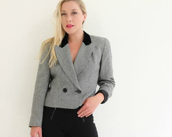 1980s Equestrian Blazer /// Extra Small to Small