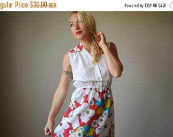 ON SALE 1970s Poppy Summer dress~Size Extra Small to Small
