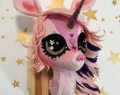Sparkle the Unicorn Faux Taxidermy Trophy