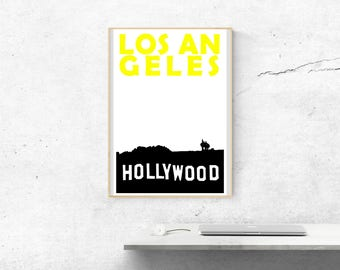Los Angeles Print // California Print // California Gift // Travel Gift // California Art Print // Birthday Gift // Los Angeles Poster Art