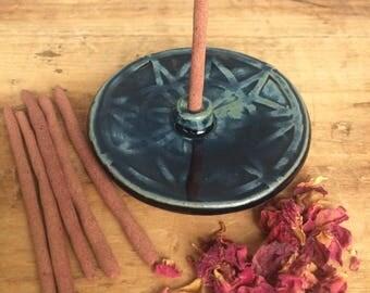 Geometric Incense Burner with Herbal Incense Sticks