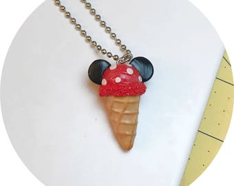 Minnie Mouse Cone Necklace