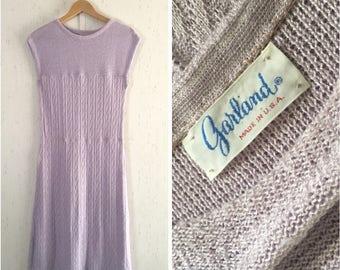 Vintage Lilac Knit Sun Dress Garland 60's