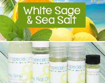 White Sage & Sea Salt Perfume, Perfume Spray, Body Spray, Perfume Roll On, Perfume Sample, Dry Oil Spray, You Choose the Product