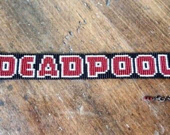 Deadpool Beaded Bracelet