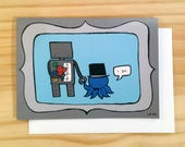 Robot and Octopus Wedding 8x10 print