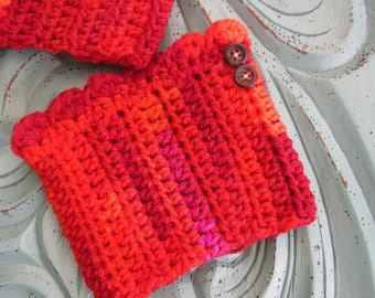 Ready to ship SALE - Boot cuffs -TEEN/SMALL boot toppers  - Small adult boot toppers - crochet boot cuffs - boot covers