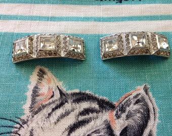 Vintage 1930's rhinestone shoe clips