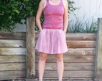 Gathering Skirt mini length (hemp and organic cotton)