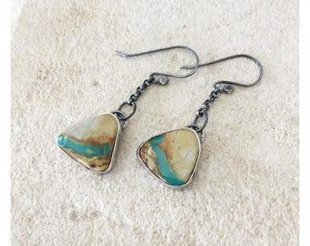 Royston Ribbon Turquoise Earrings