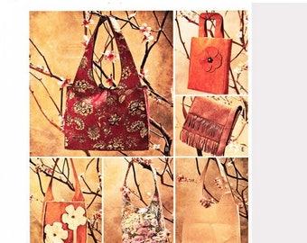 on SALE 25% Off Ladies Shoulder Bag Pattern, McCalls Tote Bag Pattern, Purses and Bags, Faux Leather Bag, Ultra Suede Bags, Boho Handbags Se
