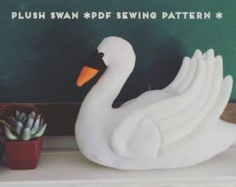 Plush Swan PDF Sewing Pattern