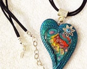 Heart Pendant on Cords - Valentine's Day Sale