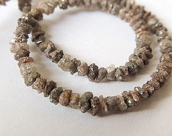 Brown DIAMOND Gemstone Bead, Raw, Rough, Diamond Nugget. Precious Gemstone. Natural Diamond  3mm. Select 4 to 25 Diamond Nuggets (51dia).