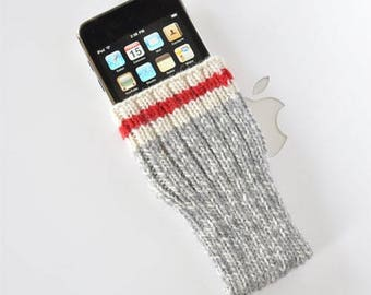 iPhone 7 Plus Cover Hand Knit Wool - Original Take A Hike Sock Design