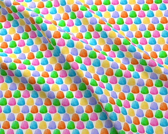 Candy Fabric - Gumdrops - 6 Color By Siya - Candy Rainbow Gumdrops Holiday Sweets Sugar Kids Cotton Fabric By The Yard With Spoonflower