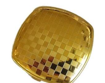 Art Deco Powder Compact Checkerboard Vintage signed La Mode