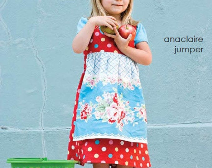 Girls Dress Pattern, Anaclaire Jumper Pattern by Marie-Madeline Studios
