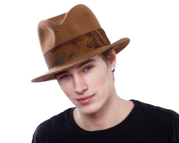Mens Fedora Hat 1930s Mens Hat 1940s Mens Hat 1950s Mens Hat Fall Fashion Men's Accessories Men's Dress Hat Spring Fashion Brown Hat