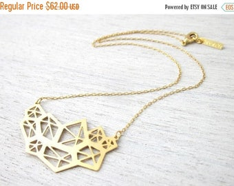 On Sale 40% off, Small Pentagon Necklace in Gold