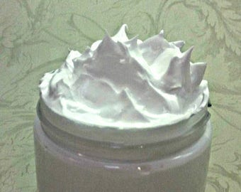 Cucumber Melon Type Handmade Whipped Goat Milk, Shea, and Cocoa Body Butter With Vitamin C, 8 Oz. Jar