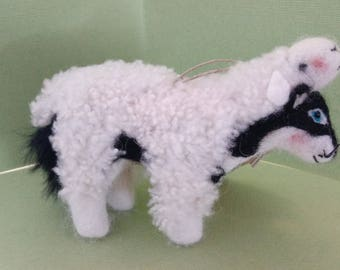 Wolf in Sheep's Clothing Felted Wool Ornament