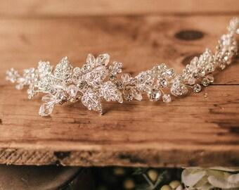 Swarovski Bridal Hair Accessory, Bridal Headpiece, Wedding comb, Bridal comb, Rhinestone Hairpiece, Rhinestone clip