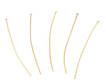 "Gold Plated - 2 3/8"" Headpins - 300 pieces"
