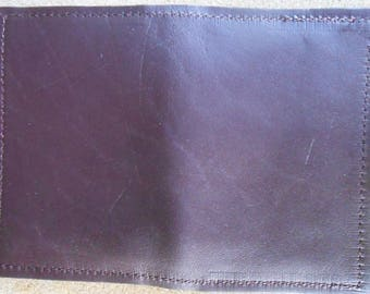 Dark Burgundy Leather Card Wallet Made in GA USA