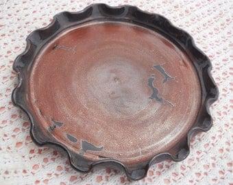 Ceramic Handmade Fluted Pie Pan