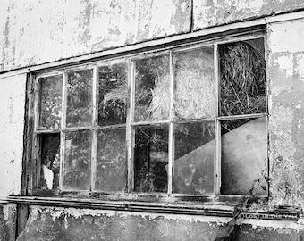 Barn Photograph, Black and White Photography, Rustic Home Decor, Farm Photo, Photo of a Window, New England Print, Fine Art Photography