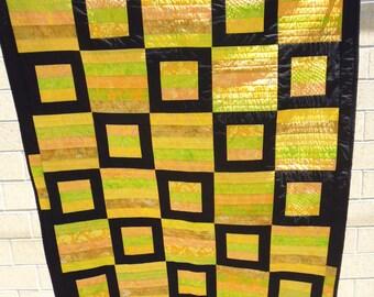 Licorice allsorts lap quilt
