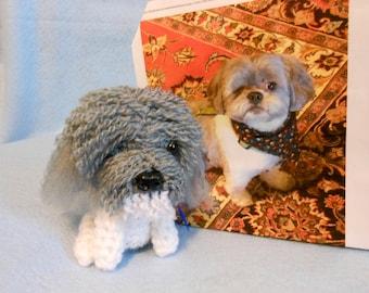 Custom Crochet Dog, Shih Tzu, Made to Look Like Owner's Dog, Canine, Stuffed Dog, Stuffed Shih Tzu, Custom Made, Pet Memorial