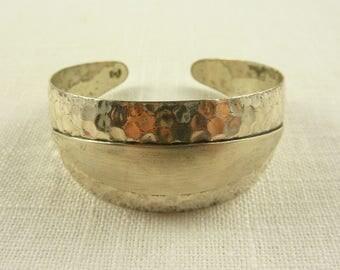 Vintage Sterling Beau Hammered Lacquer Coated Petite Bracelet