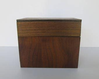 Wood Index Card or Recipe Box