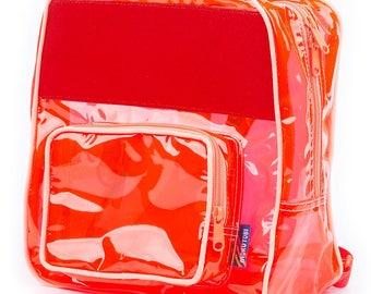 Burst Red Vinyl Backpack
